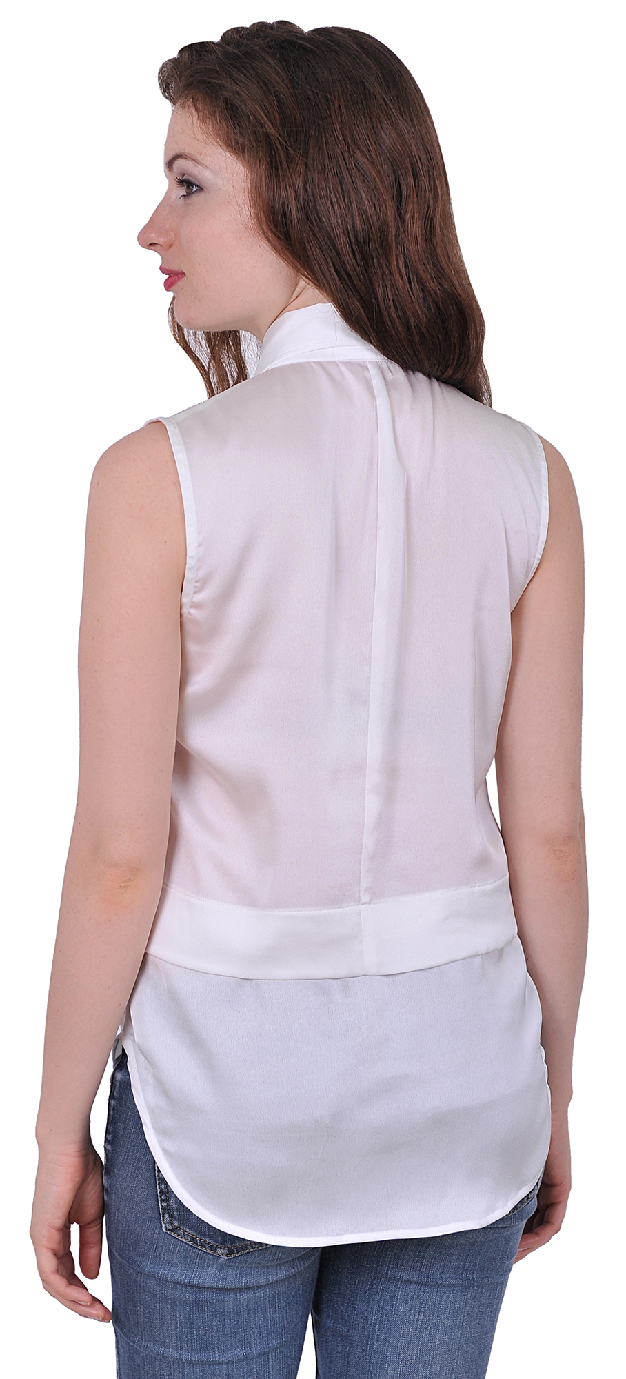 womens easy care sleeveless button down collared suiting