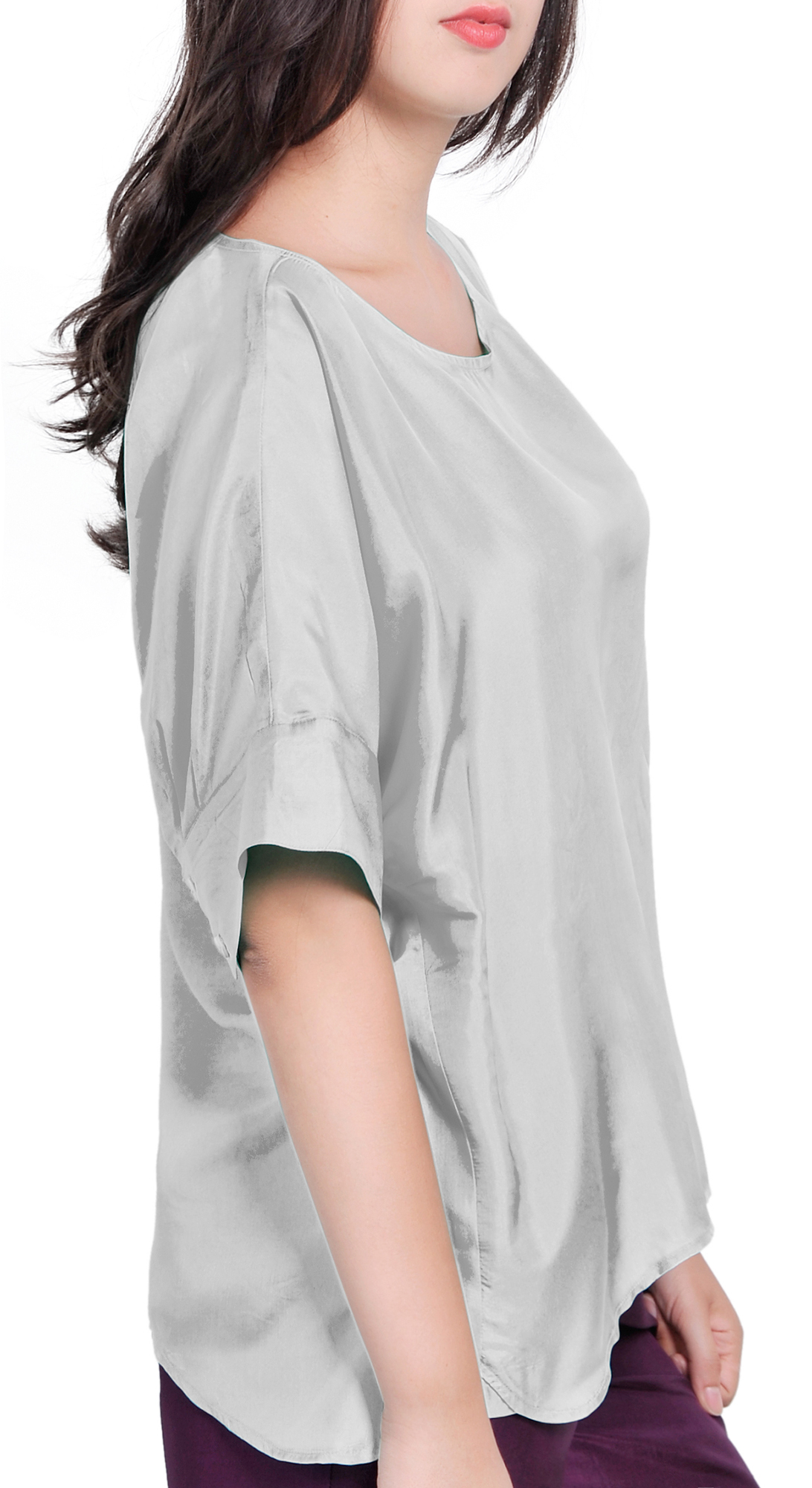 Womens high low blouses with original style for Luxury clothing