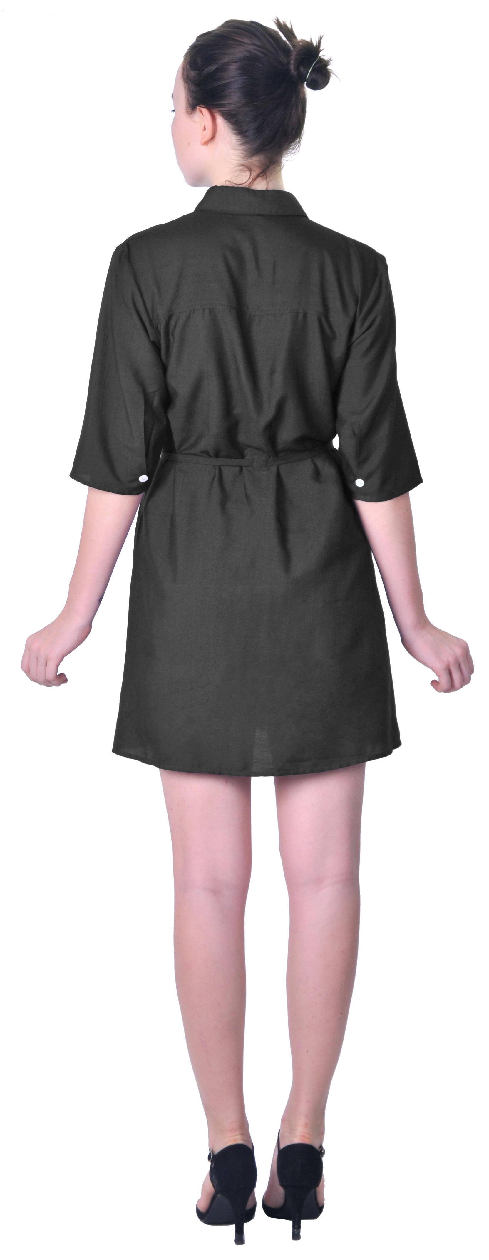 Luxury Michael Stars Button Down Shirt Dress For Women  Dinggooo