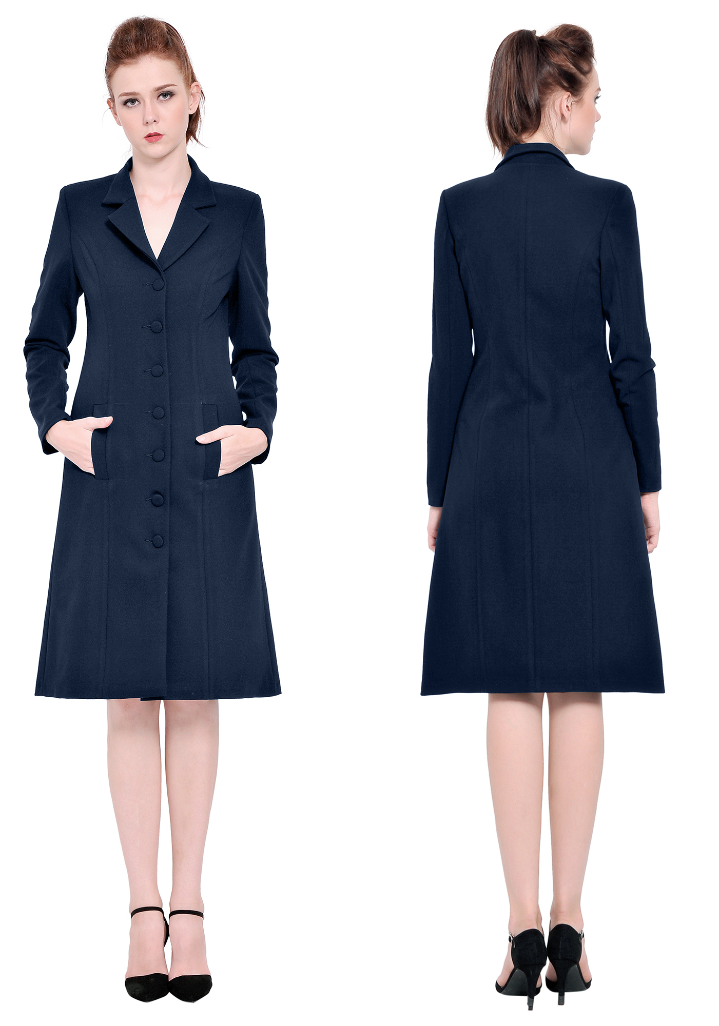 WOMENS BUSINESS OFFICE WORK LONG JACKET DRESS COATS OUTWEAR SUIT WINTER AUTUMN | eBay