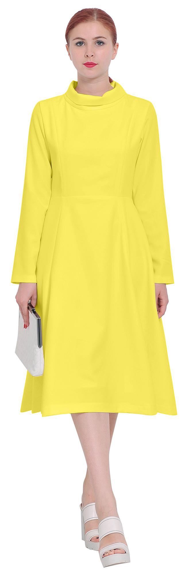 Polo Neck Midi Dress