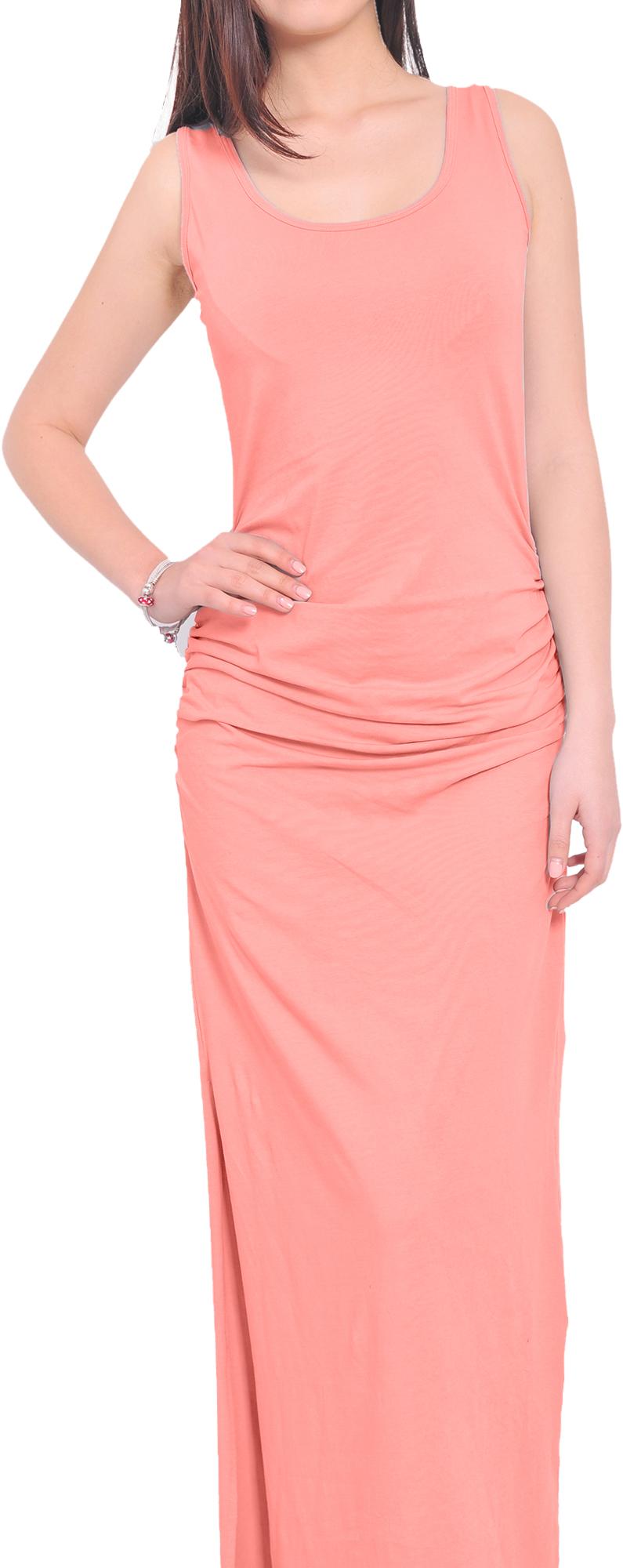 womens summer resort sleeveless ruched maxi