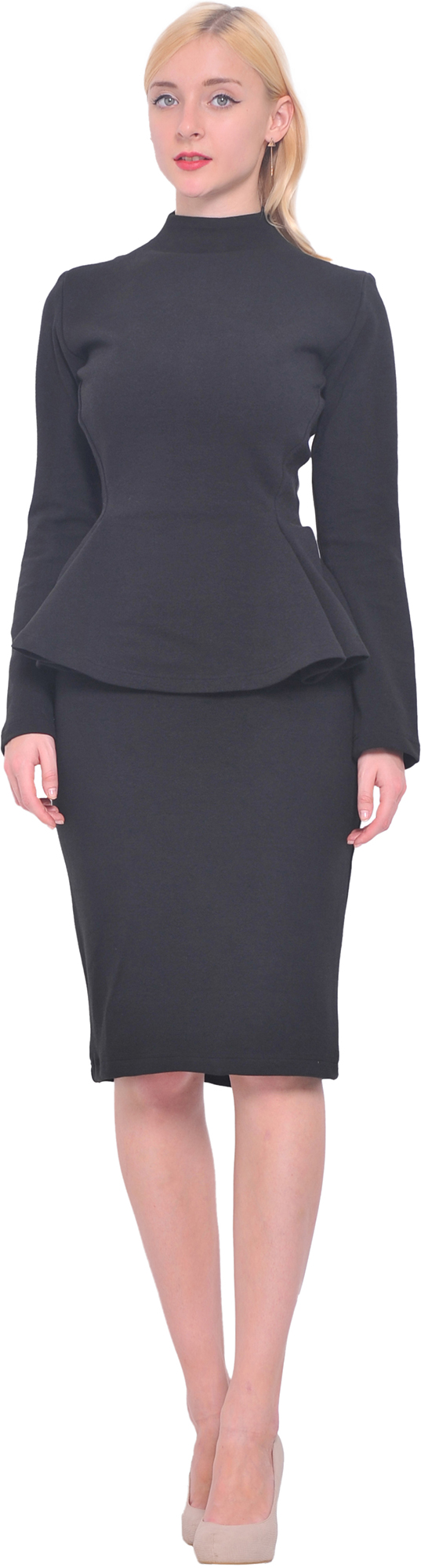Details: Solid hued, peplum maternity midi dress featuring short sleeves with cute ruffle accent, side pockets, and a rounded neckline. This style was created to be worn before, during, and after pregnancy.