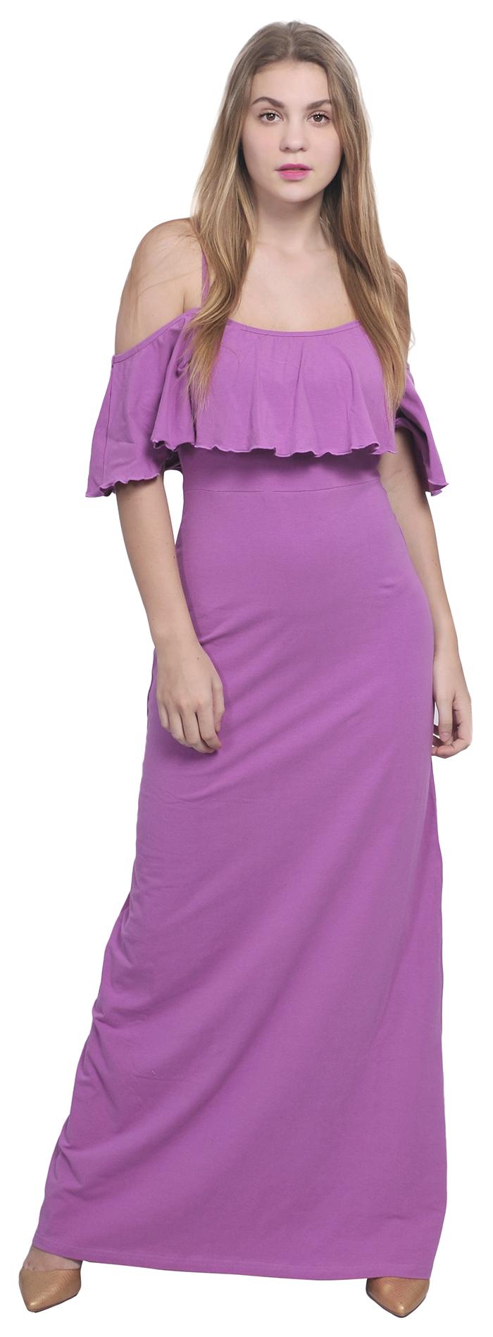 Womens Off Cold Shoulder Boho Maxi Long Dresses Summer