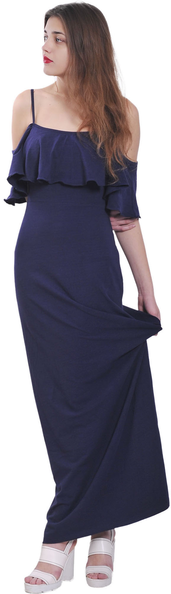 WOMENS OFF COLD SHOULDER BOHO MAXI LONG DRESSES SUMMER BEACH PLUS ... cdd20a04b1