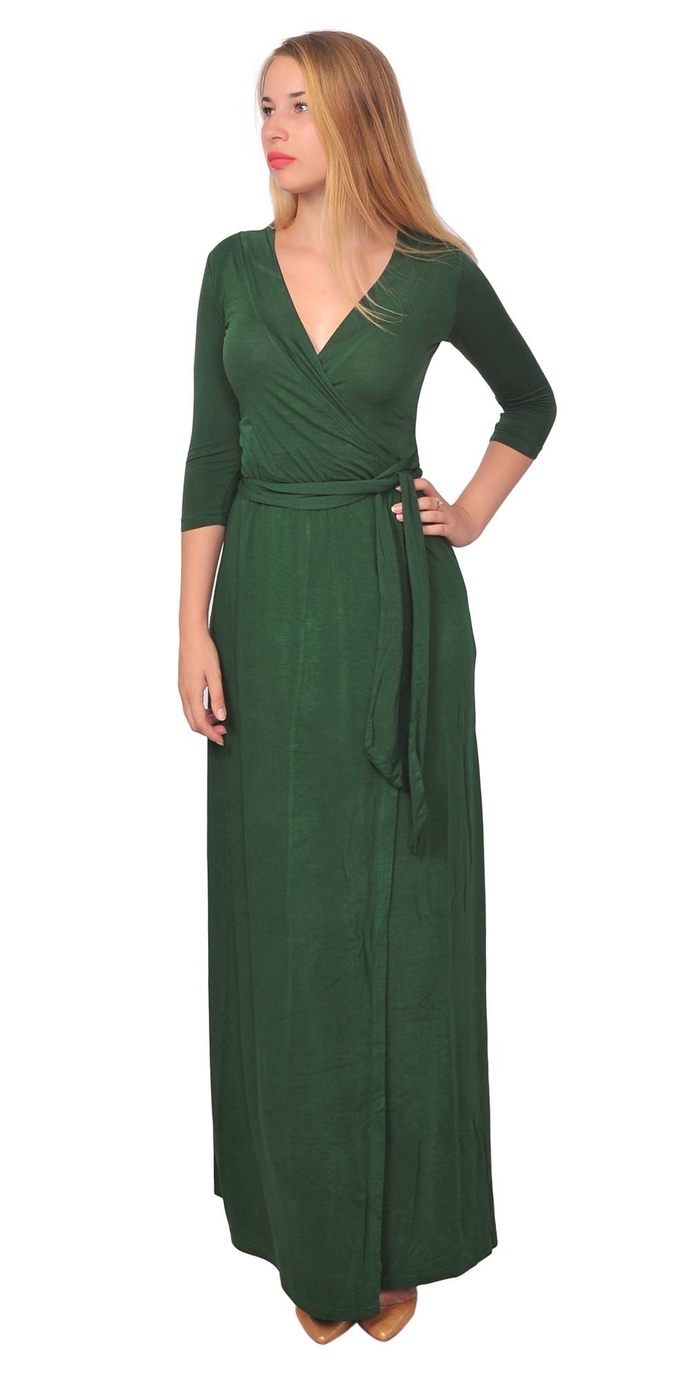 LONG SLEEVE MAXI WRAP DRESS FULL LENGTH WAIST TIE CROSSOVER DRESSES SUMMER BEACH | EBay
