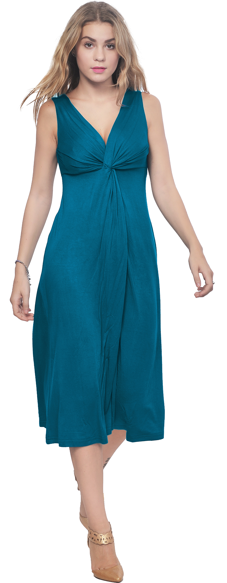 Elegant  By Cynthia Vincent Handkerchief Midi Dress For Women  Booocloth