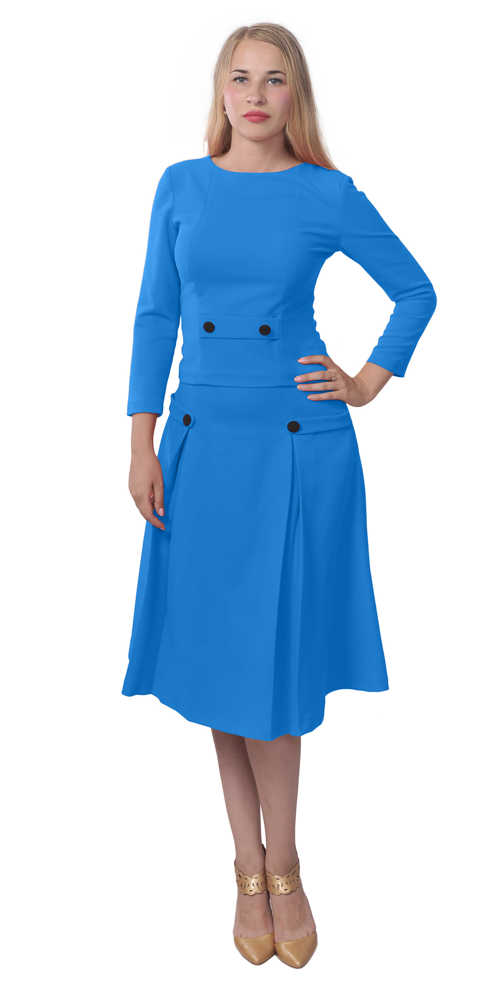 womens classic business church work vintage aline