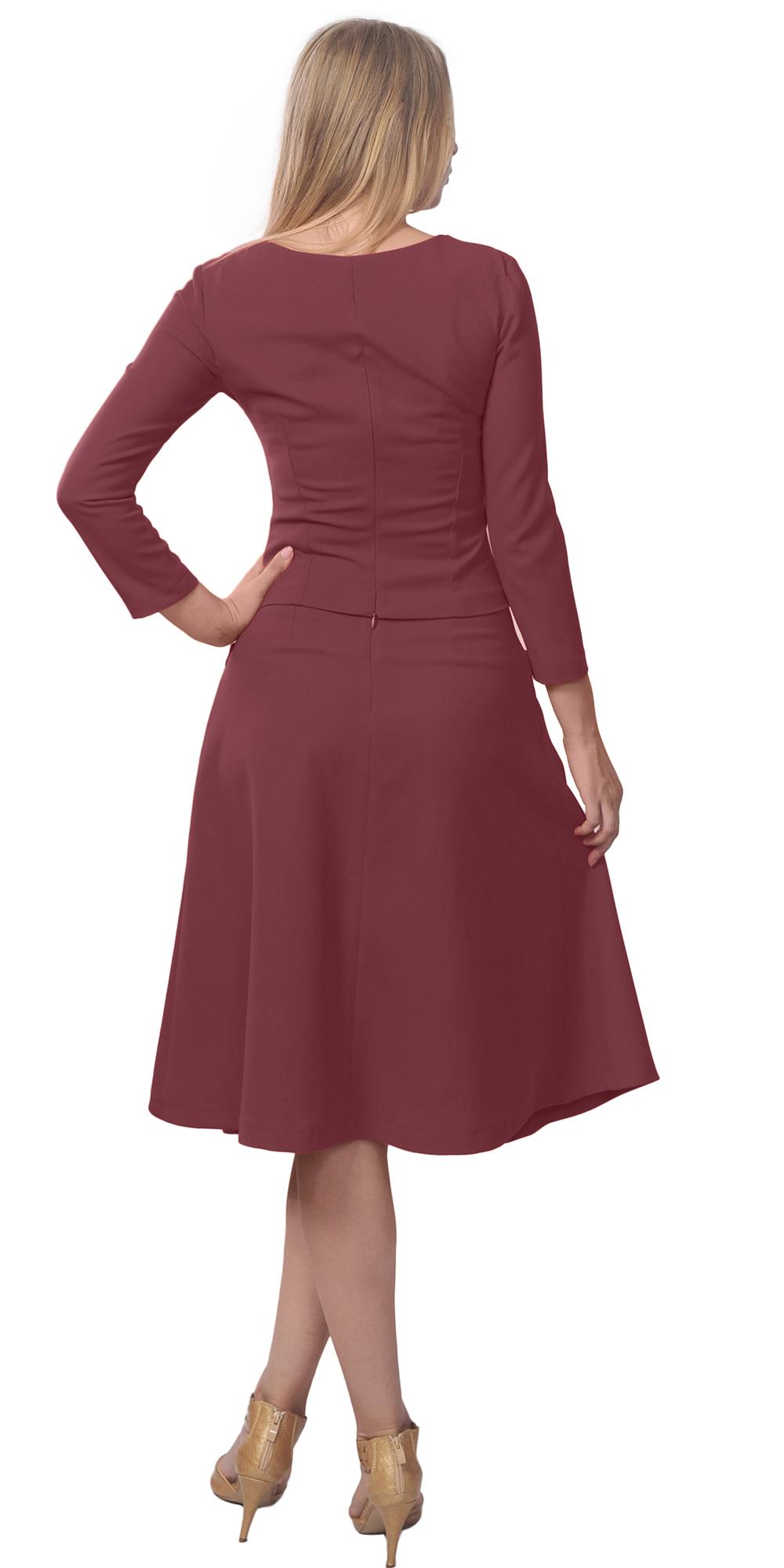 CLASSIC CLASSY BUSINESS CHURCH WORK VINTAGE ALINE MIDI SKIRT SUIT DRESS A6105   eBay