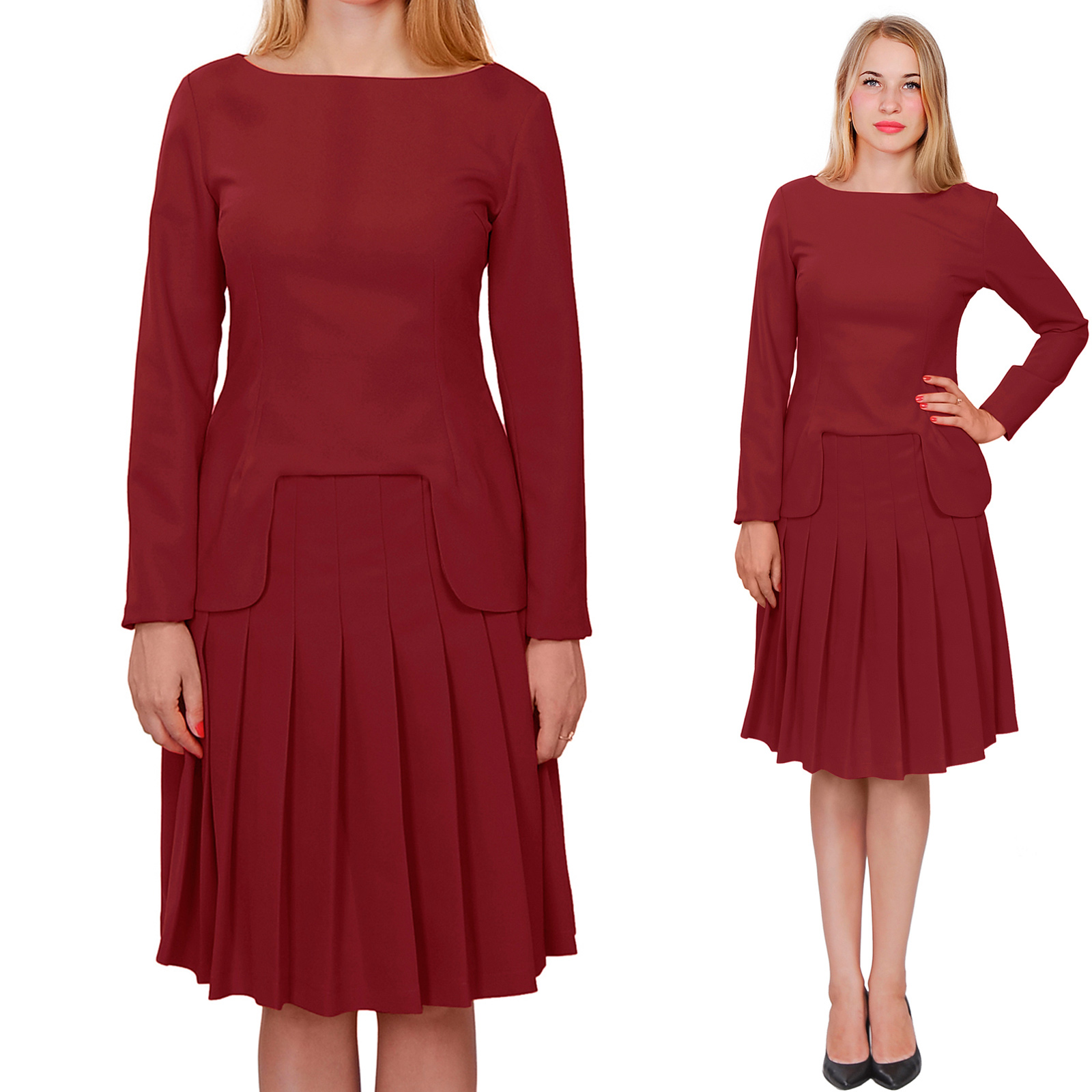Image Is Loading Burgundy Marycrafts Womens Church Office Business Skirt Suits