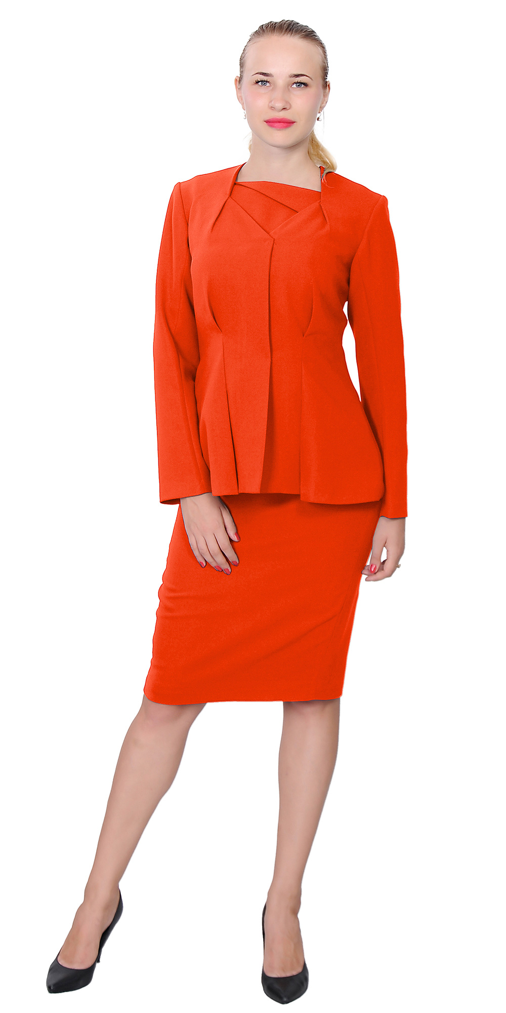 Womens Wear To Work Classy Elegant Lady Midi Dress Suit 4 Church