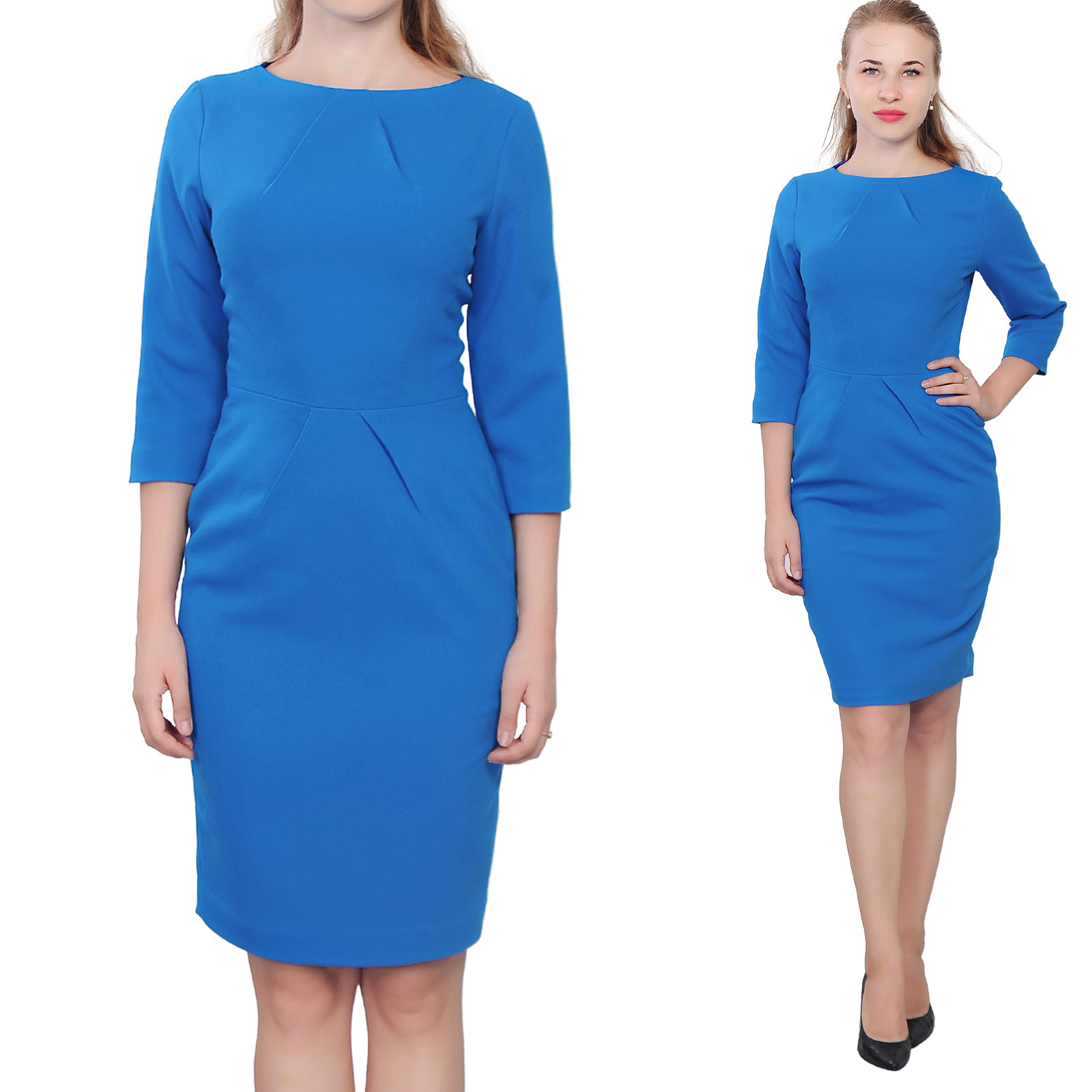 Blue Knee Length Dresses