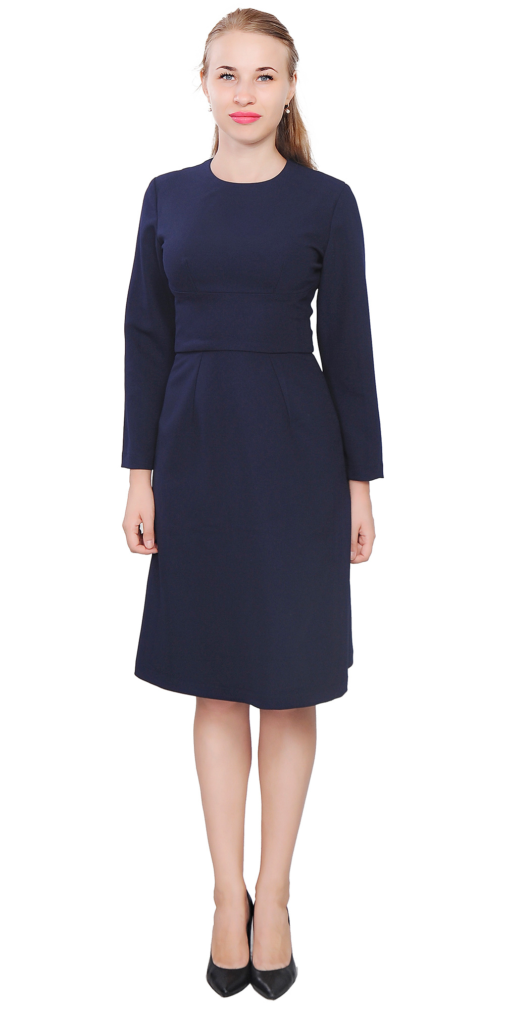 I really really wanted to love this dress, and I do think it is a lovely dress, but unfortunately it just didn't work for my body. The colors were true to the picture and the top was a deep rich blue.