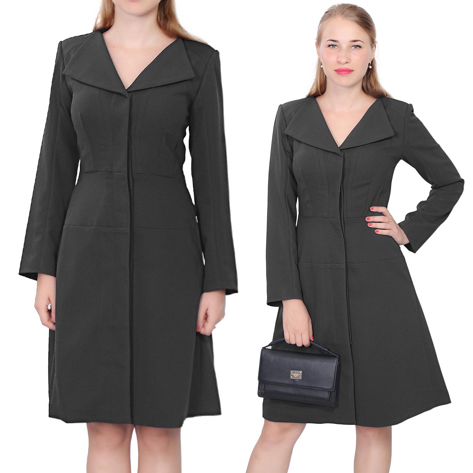 ELEGANT CLASSY TRAPEZE COAT DRESS VINTAGE 1950S COATDRESS COAT ...