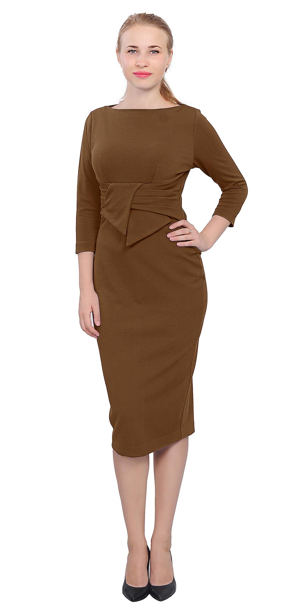 Wiggle Midi Dress Lady Vintage Retro 1950s Evening Work