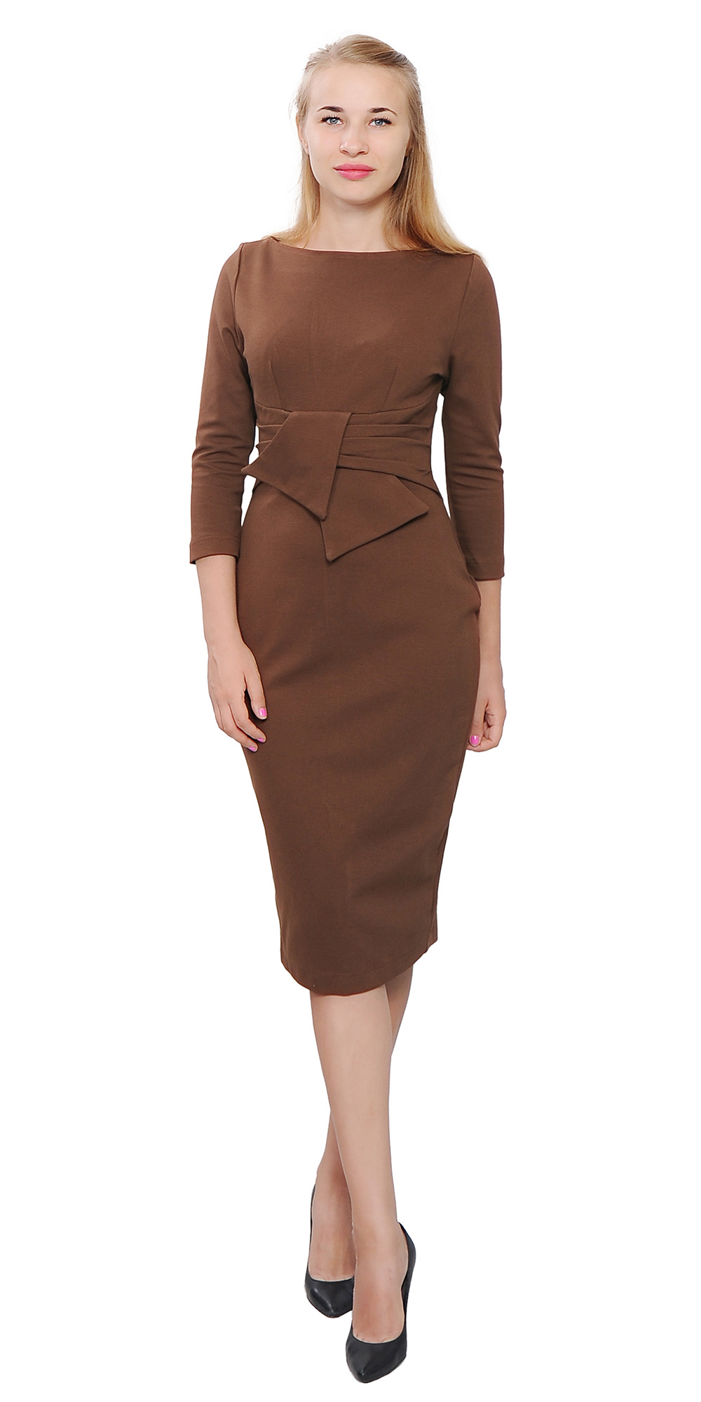 Wiggle Midi Dress Lady Vintage Retro 1950s Evening
