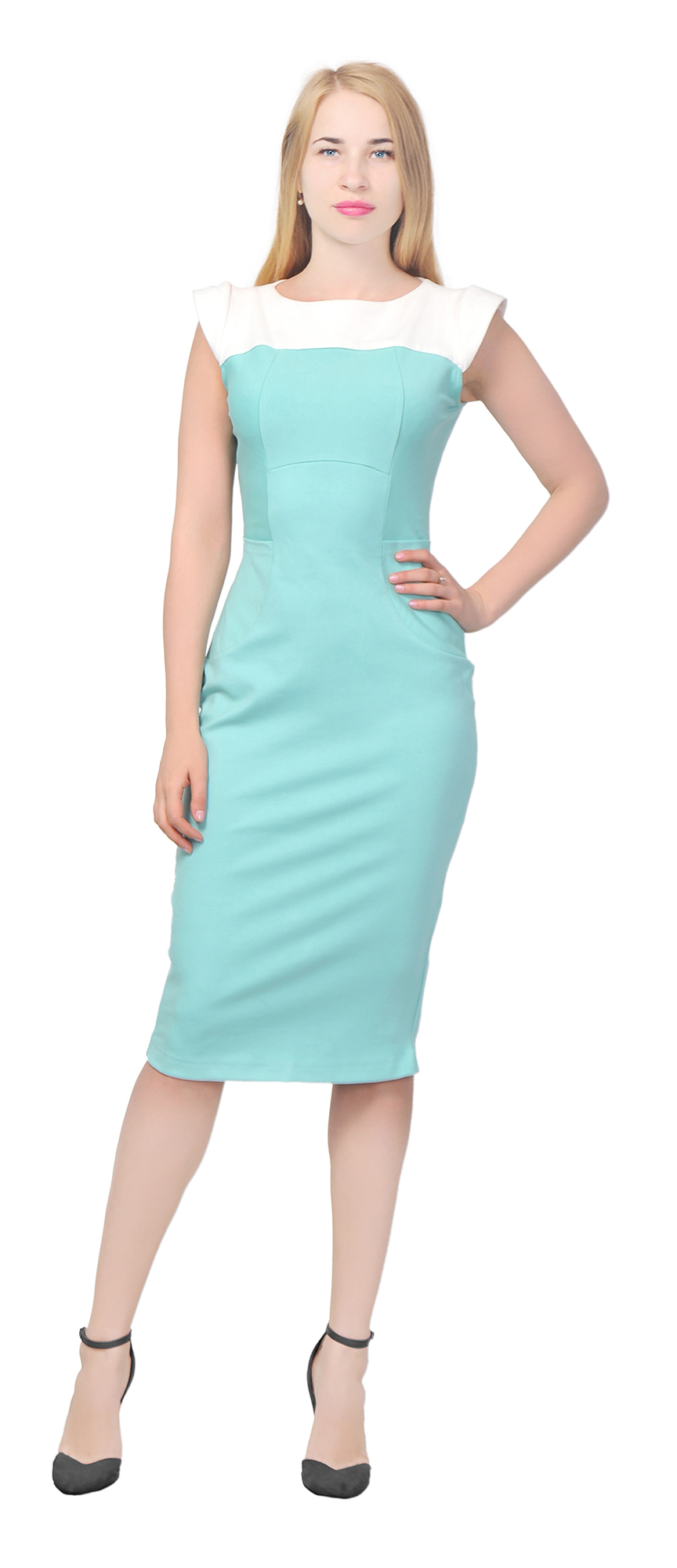 MARYCRAFTS WOMEN\'S COLORBLOCK SHEATH MIDI DRESS OFFICE COCTAIL WORK ...