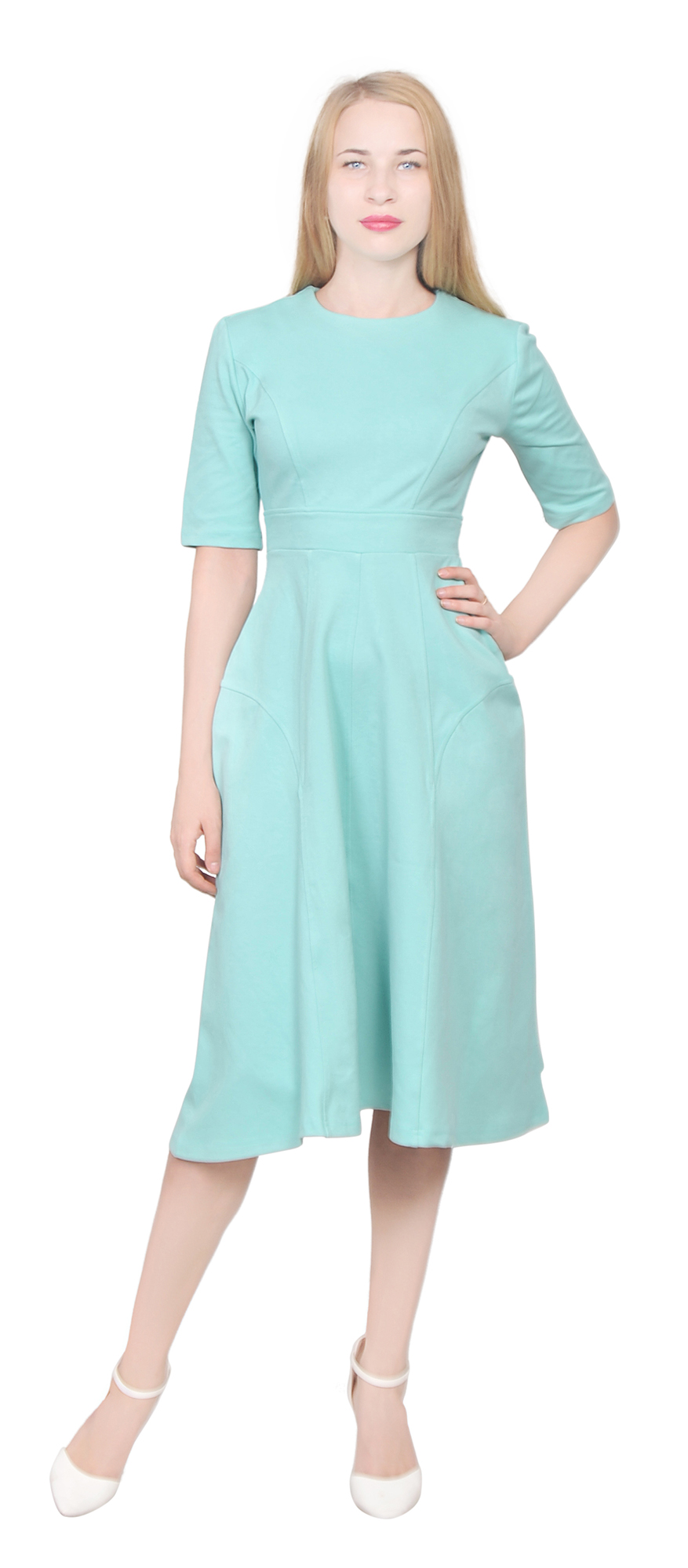 WOMENS ELEGANT LONG TEA MIDI DRESS CASUAL OFFICE WEAR TO WORK ...