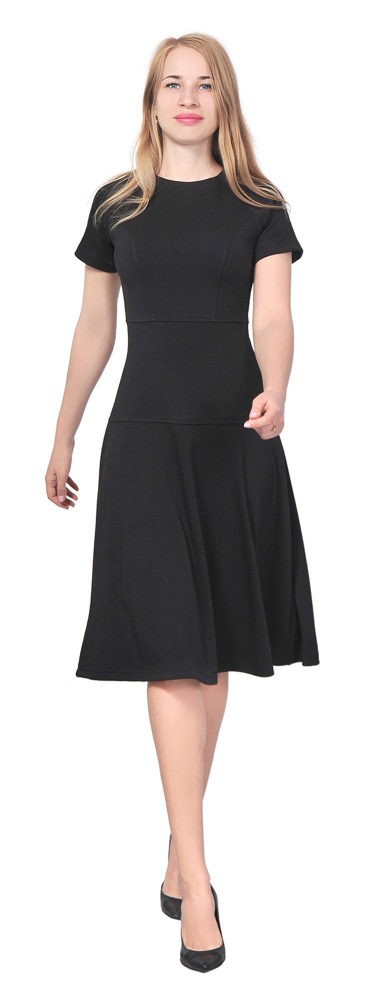 Womens Elegant Casual Work Office Knee Length Dress Short