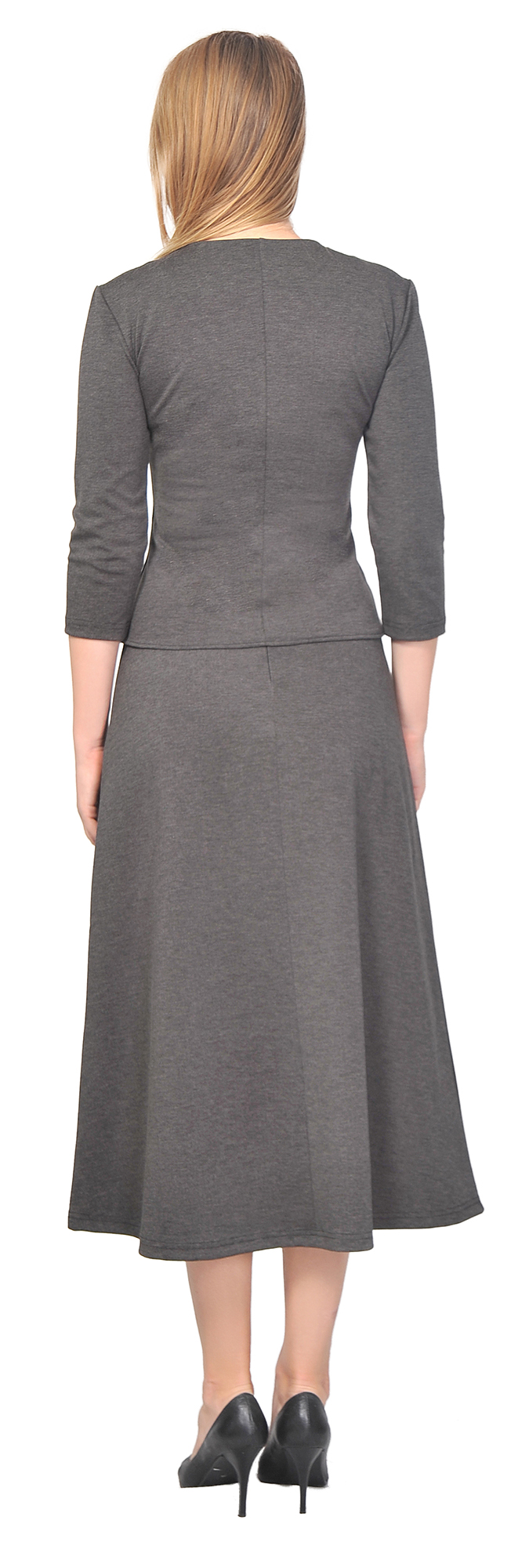 WOMEN'S TOP SHIRT A LINE MIDI SKIRT SUIT SET CASUAL OFFICE WORK ...