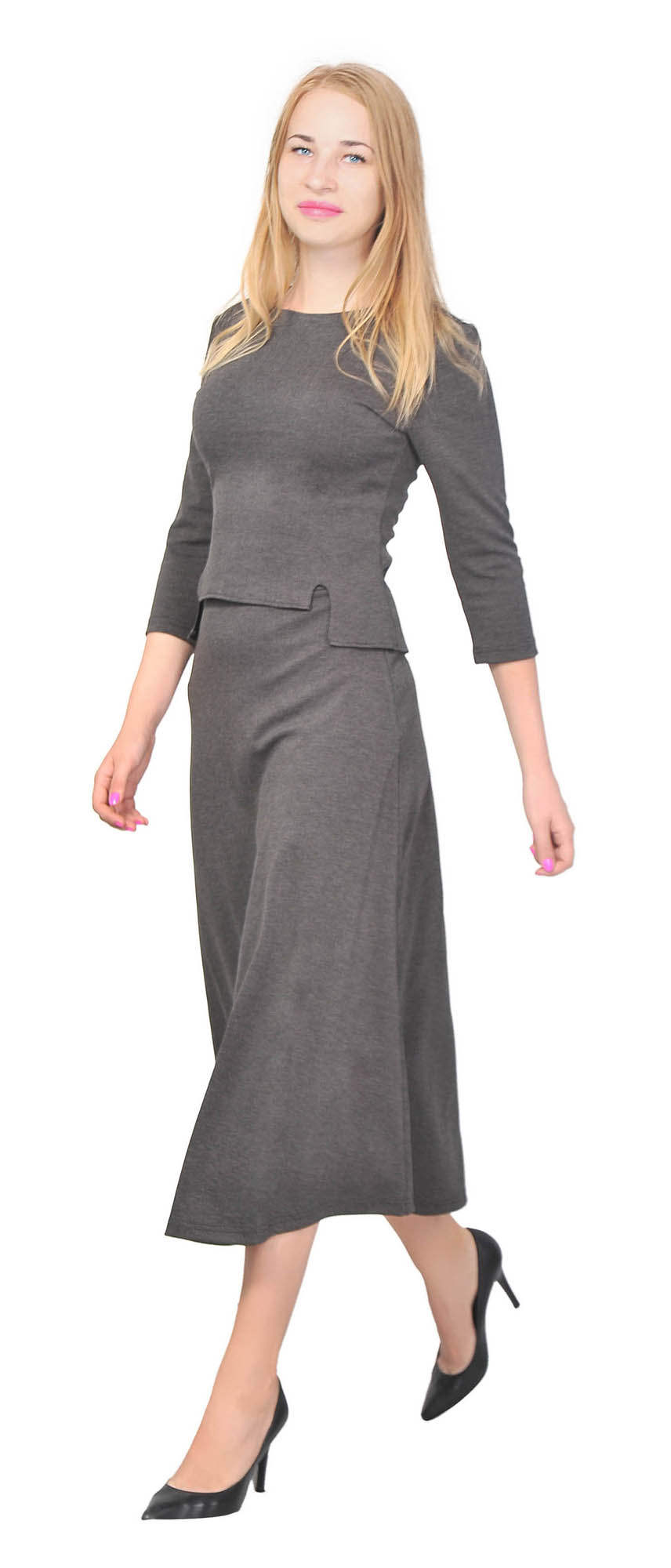Marycrafts Women's Stylish Jacket Pencil Midi Skirt Office Suit Gear up your career with this sotisficated suit! You'll own the ladylike and polite appearance thanks to this awesome design.