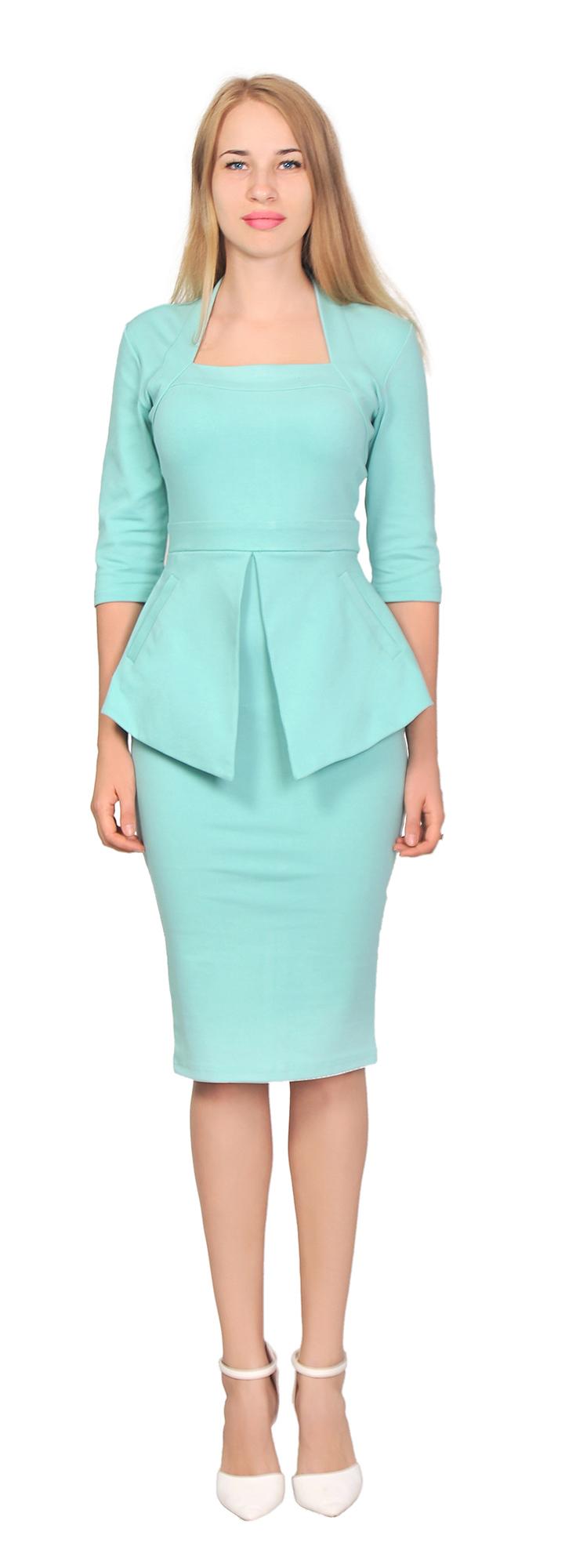 WOMEN\'S ELEGANT PEPLUM DRESS WORK OFFICE VINTAGE PENCIL 1950S ...