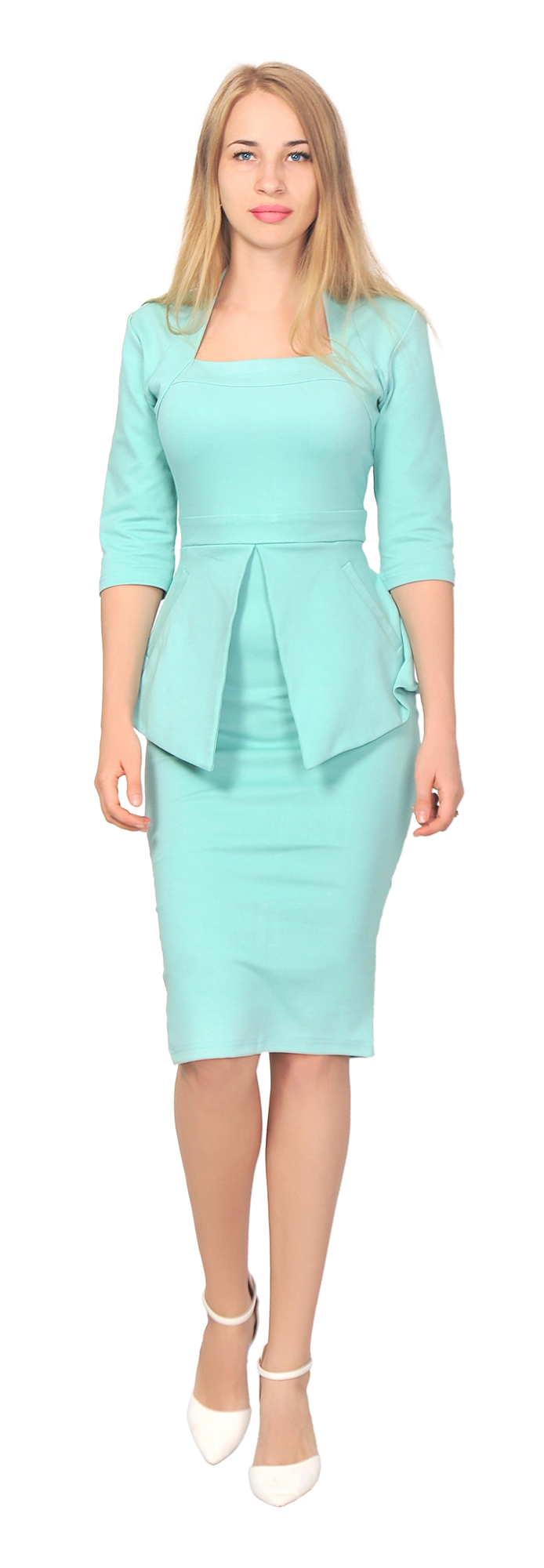 WOMEN\'S ELEGANT PEPLUM DRESS WORK OFFICE VINTAGE PENCIL 1950S RETRO ...