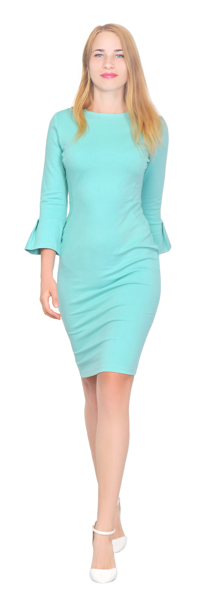 MARYCRAFTS WOMENS FLOUNCE FLARE SLEEVE PENCIL DRESS COCKTAIL FITTED ...