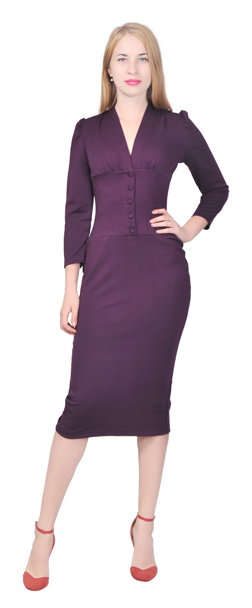 MARYCRAFTS WOMEN\'S VINTAGE 1940S PENCIL WORK OFFICE DRESS COCKTAIL ...