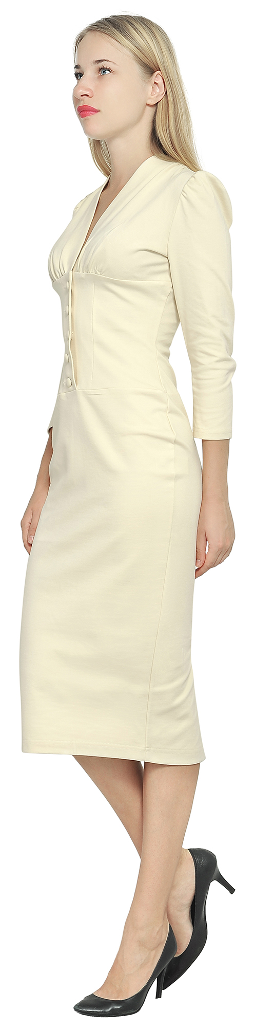 12812a8eb9f MARYCRAFTS WOMEN S VINTAGE 1940S PENCIL WORK OFFICE DRESS COCKTAIL ...