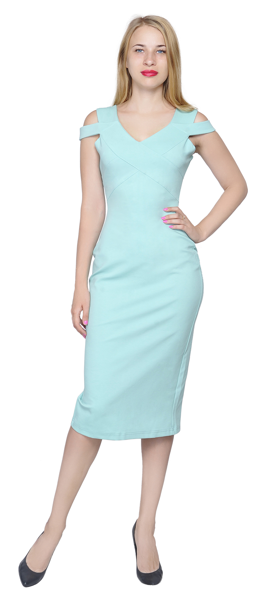 MARYCRAFTS WOMEN\'S ELEGANT FITTED PENCIL MIDI DRESS COCKTAIL PARTY ...