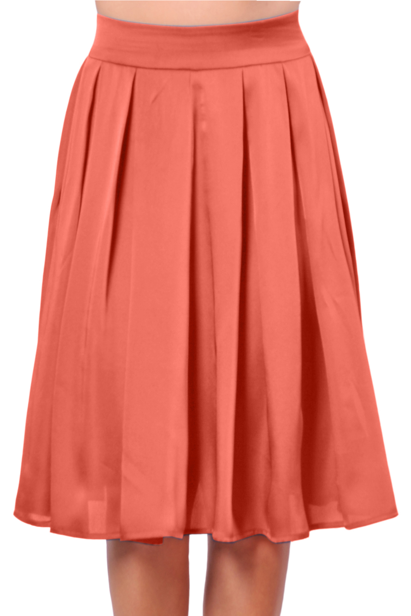 marycrafts womens office casual skirt pleated knee length