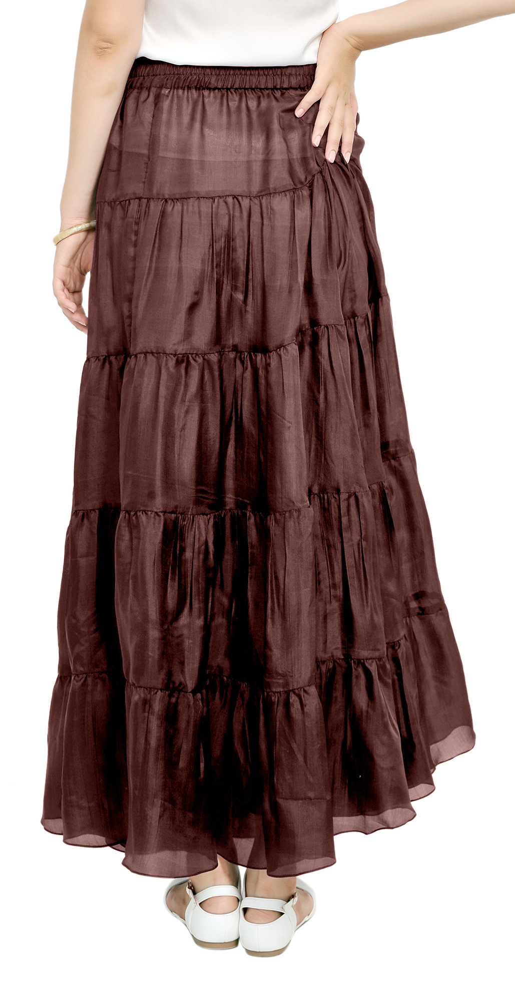MARYCRAFTS WOMENS SILK MAXI LONG TIERED BOHEMIAN BOHO GYPSY BROOMSTICK SKIRTS | eBay