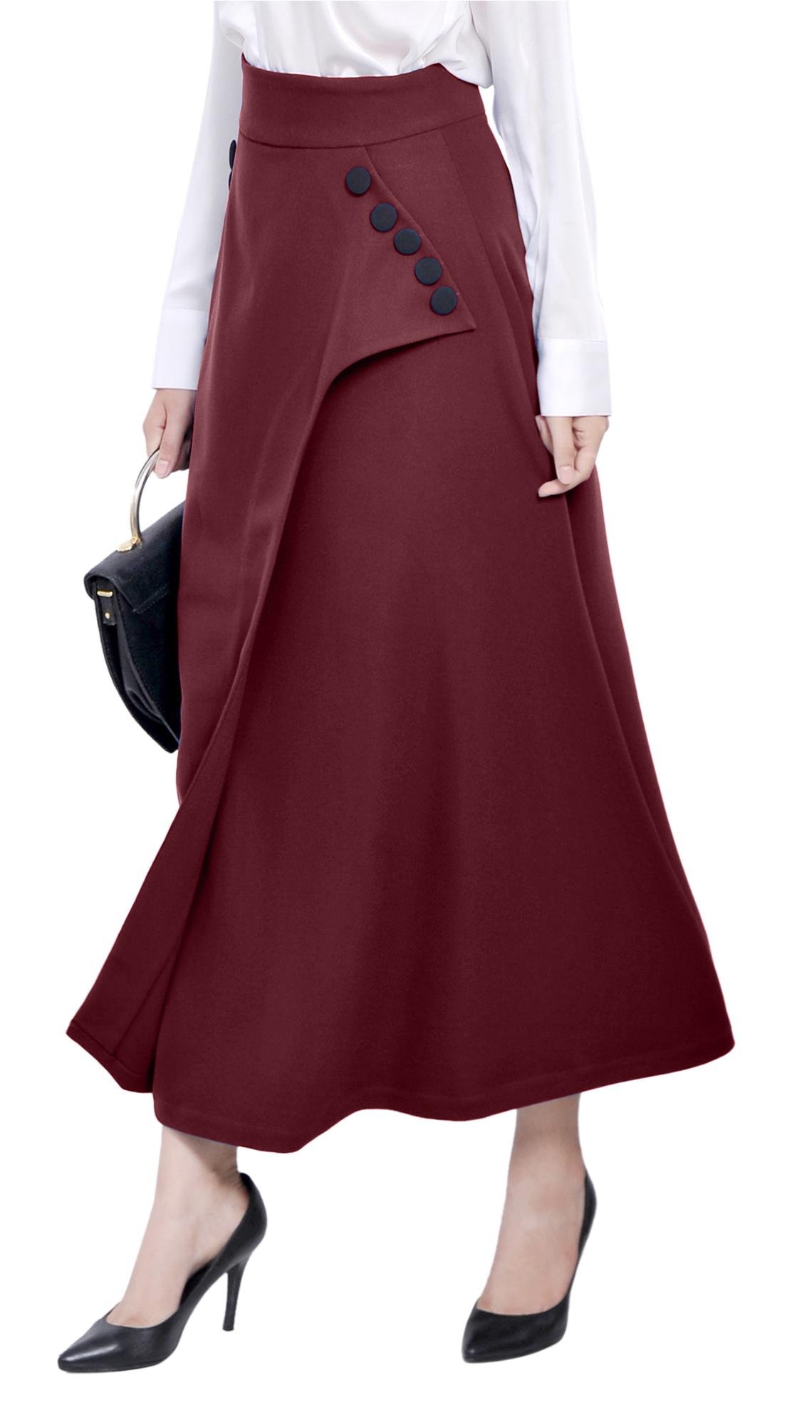 MARYCRAFTS WOMENS OFFICE WORK BUSINESS PARTY A LINE WRAP ...