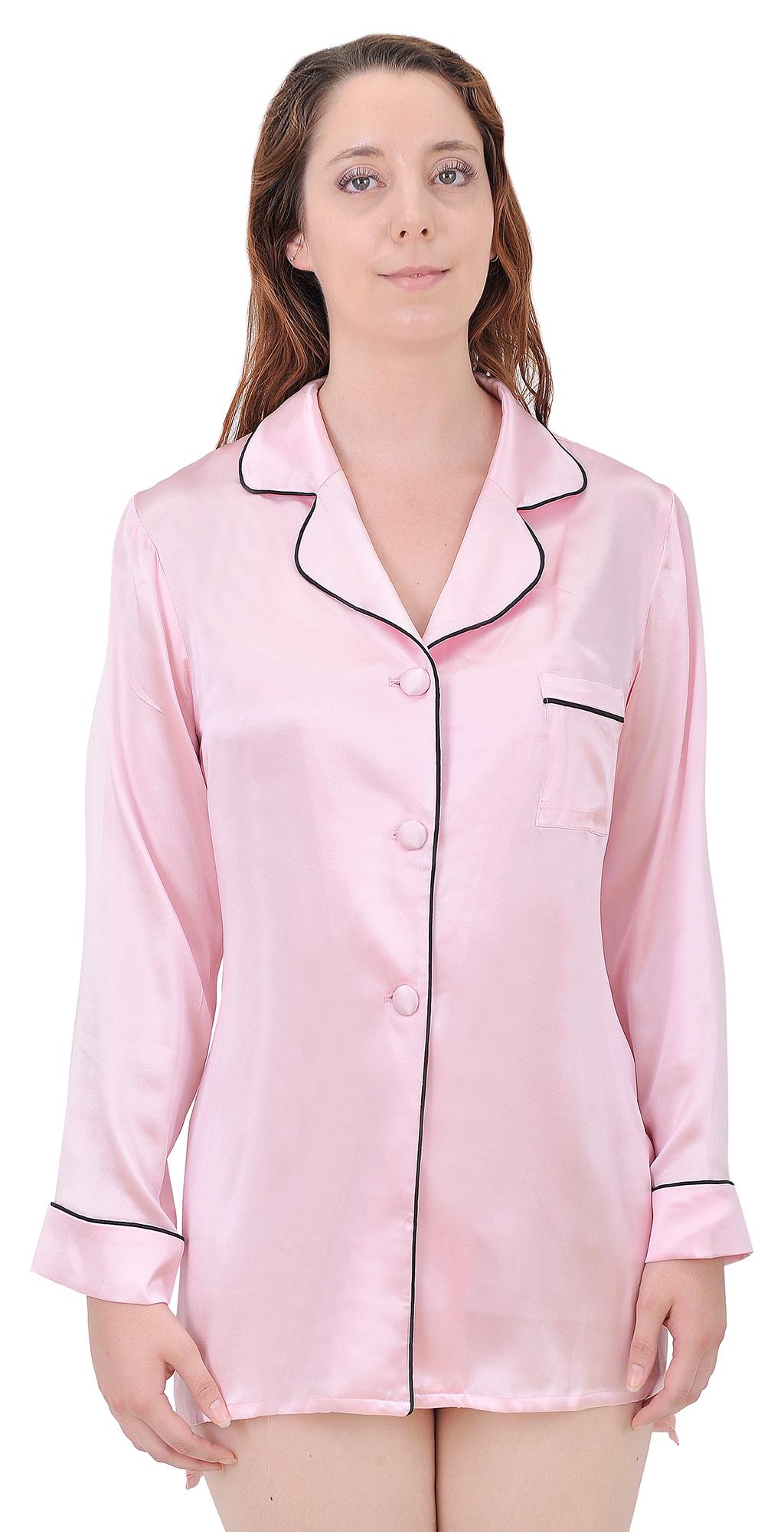 Marycrafts Silk Garvin Pyjama Pajama Blouse Shirt Top