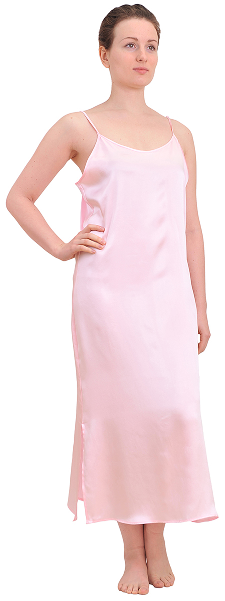 MARYCRAFTS WOMENS PURE SILK NIGHTIE NIGHT GOWN SLEEP DRESS ... - photo#11