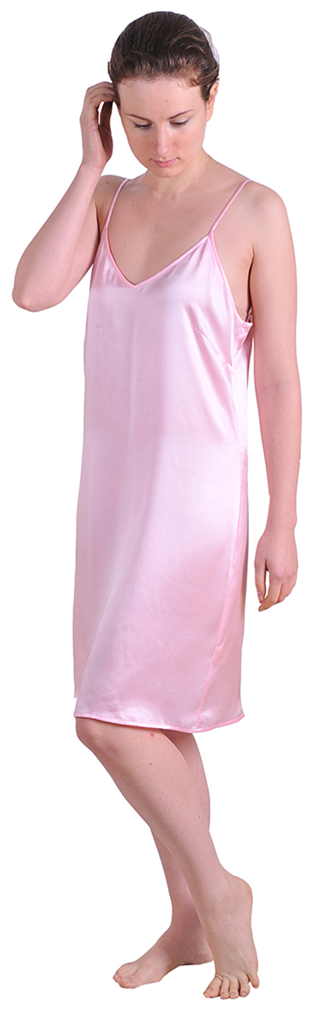 MARYCRAFTS SILK NIGHTIE SLEEP DRESS SLIP NIGHT GOWN ... - photo#27