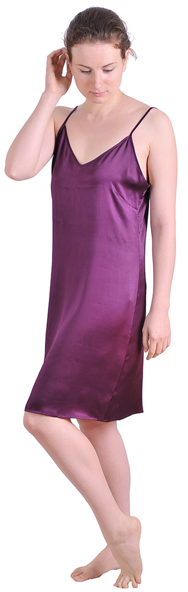 MARYCRAFTS SILK NIGHTIE SLEEP DRESS SLIP NIGHT GOWN ... - photo#22
