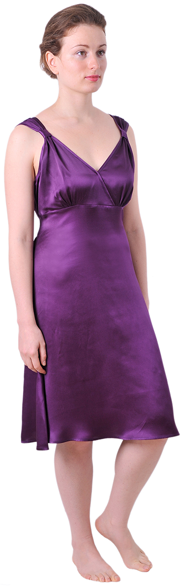 Marycrafts Womens Pure Silk Sleep Gown Dress Full Slip