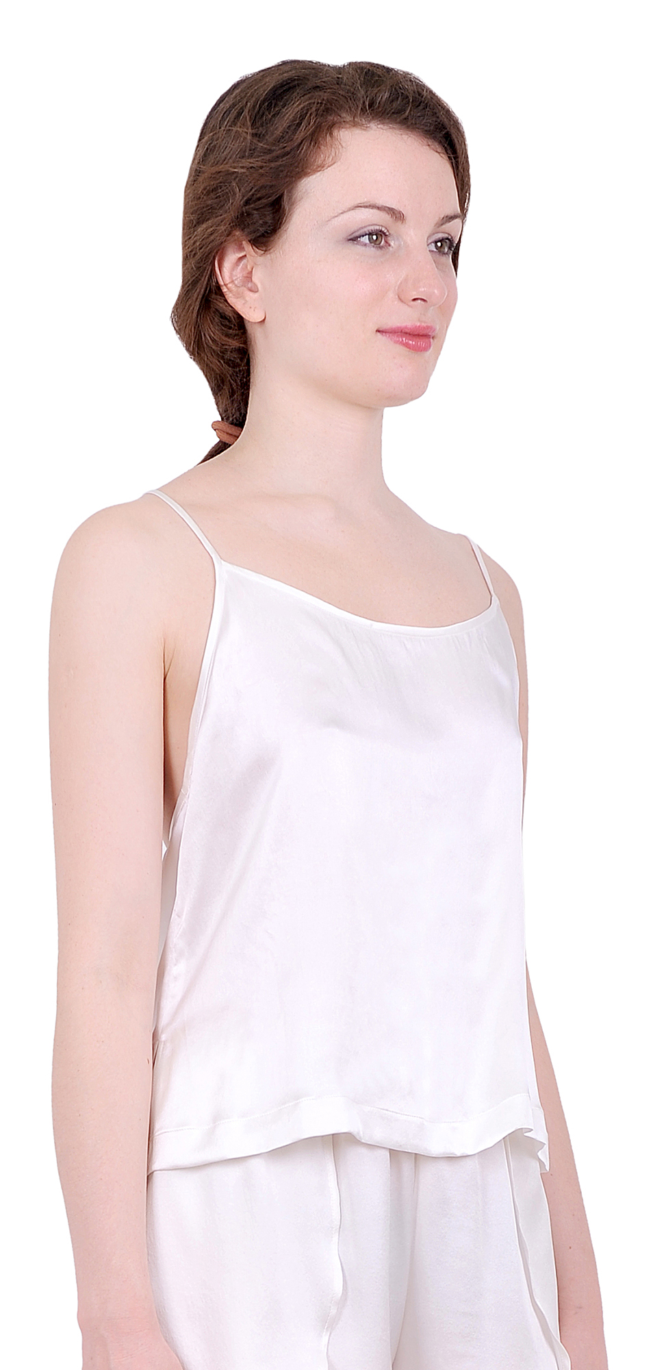 Differences between camisoles, tanks, and tube tops. Generally, the camisole is worn under clothing or as sleepwear. Its adjustable, thin straps may be adorned with lace for layering.