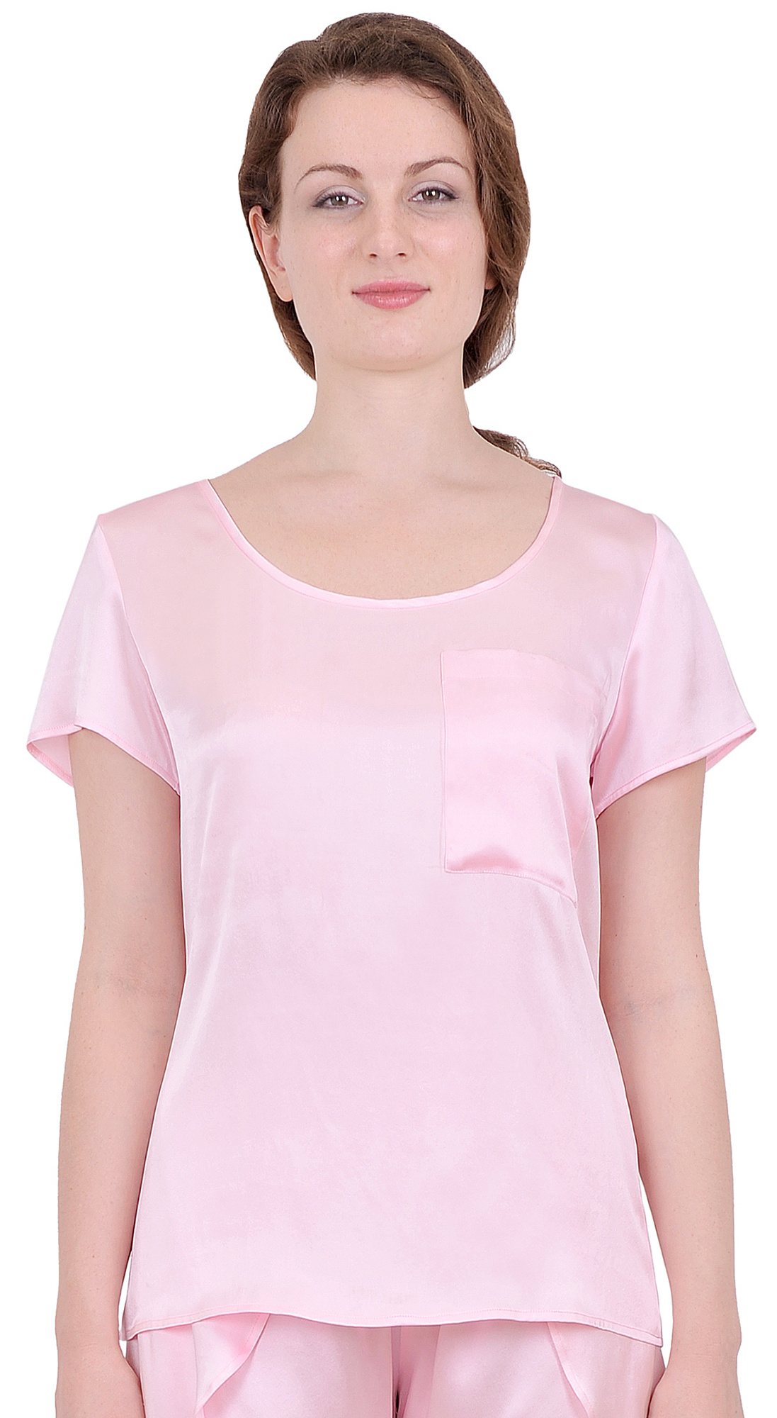 womens pure silk tee t shirt blouse short sleeve suiting